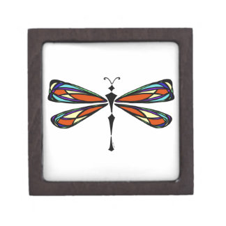 Stained Glass Dragonfly Gift Box