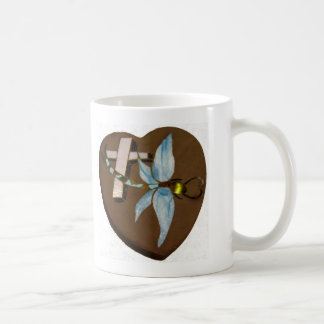 Stained Glass Dragonfly - Love, Life, and Memory Mug