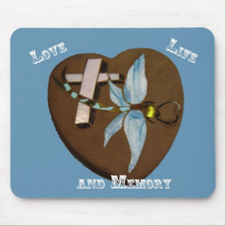 Stained Glass Dragonfly Mouse Pad