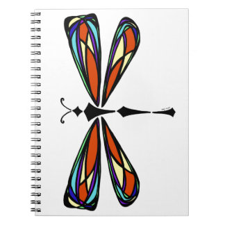 Stained Glass Dragonfly Notebook
