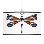 Stained Glass Dragonfly Pendant Lamp