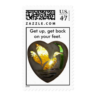 "Stained Glass ""Ducki Rising"", Get up, get back ... Postage"