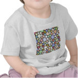 Stained Glass Earthy Hues Stars Pattern T Shirt