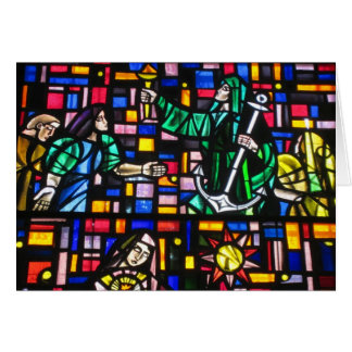 stained glass easter greeting card
