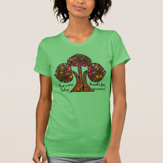 Stained Glass Eco Tree (Personalized) T-shirts