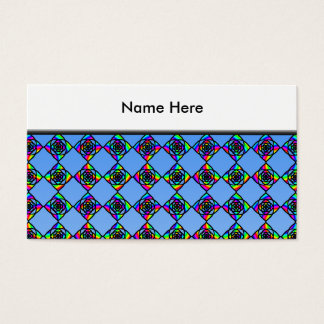 Stained Glass Effect Floral Pattern. Business Card