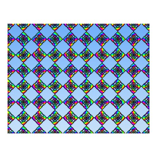 Stained Glass Effect Floral Pattern. Flyer