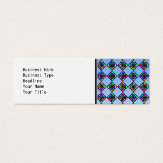 Stained Glass Effect Floral Pattern. Mini Business Card