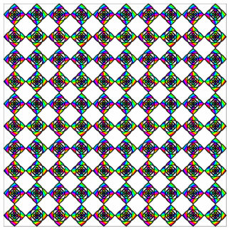 Stained Glass Effect Floral Pattern. Photo Cutouts