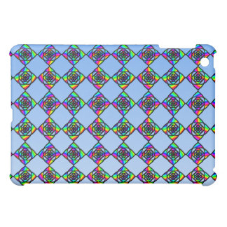 Stained Glass Effect Floral Pern iPad Mini Covers