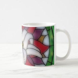 Stained Glass Effect - Lotus Flower Coffee Mug