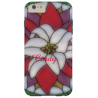 Stained Glass Effect - Lotus Flower Tough iPhone 6 Plus Case