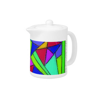 Stained Glass Effect Teapot