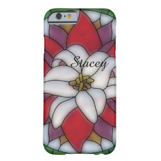 Stained Glass Effect - White Lotus Flower Barely There iPhone 6 Case