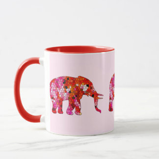 Stained Glass Elephant Mug