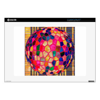 """Stained Glass Embossed Ball 15"""" Laptop Skin"""