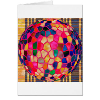 Stained Glass Embossed Ball Card