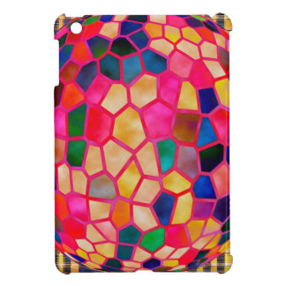 Stained Glass Embossed Ball iPad Mini Cover