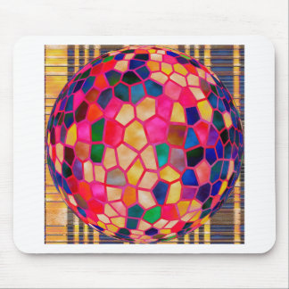Stained Glass Embossed Ball Mouse Pad