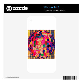Stained Glass Embossed Ball Skins For The iPhone 4S