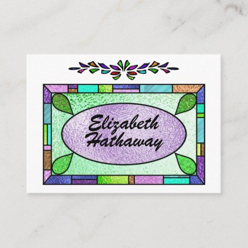Stained Glass Enclosure  Business Card by SRF