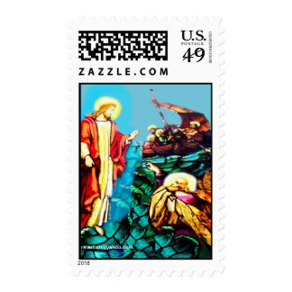 STAINED GLASS FAITH CARD STAMP