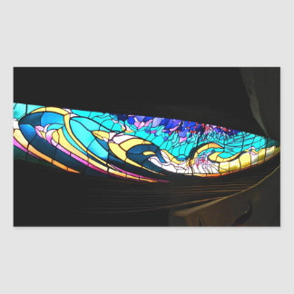 STAINED GLASS FANTASY 2 RECTANGULAR STICKER