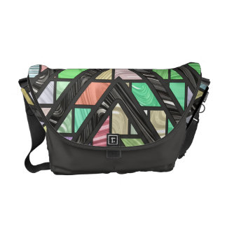 Stained Glass Faux Effect Messenger Bag