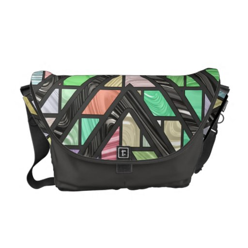Stained Glass Faux Effect Messenger Bags