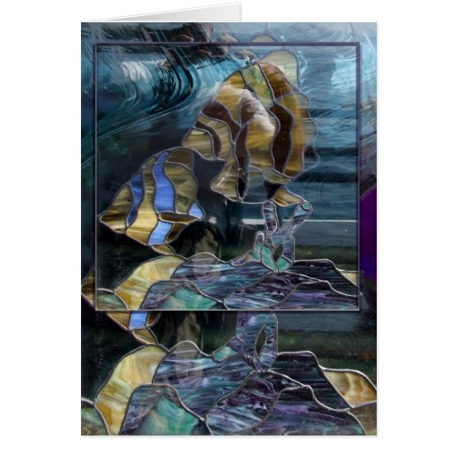 Stained Glass Fish - Awesome Zazzler Greeting Card
