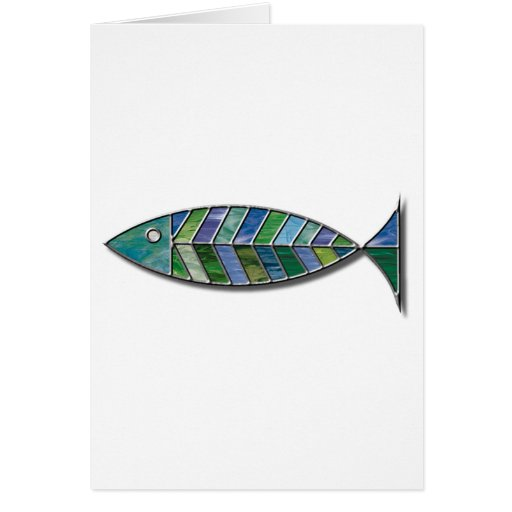 Stained Glass Fish Card