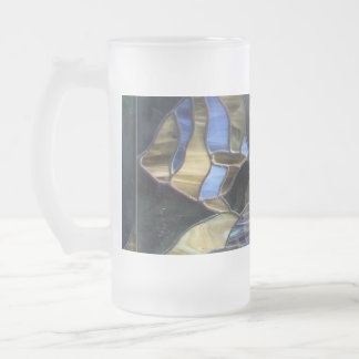 Stained Glass Fish Frosted Glass Mug