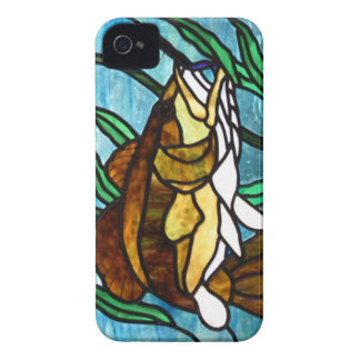 STAINED GLASS FISH iPHONE CASE