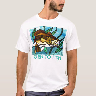 STAINED GLASS FISH MEN'S T-SHIRT