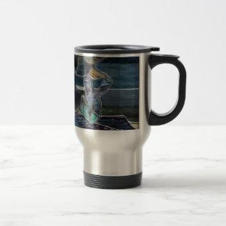 Stained Glass Fish Travel Mug