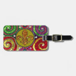 Stained Glass Fleur De Lis Abstract Tag For Luggage