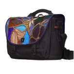 Stained Glass Floral Laptop Bag