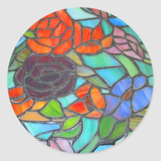 Stained Glass Floral Sticker