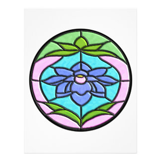 STAINED GLASS FLOWER by SHARON SHARPE Letterhead Template