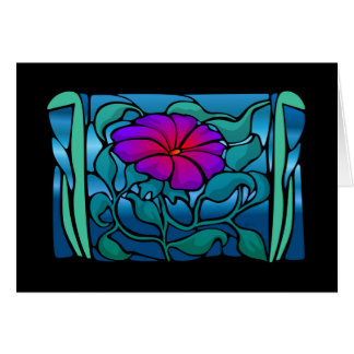 Stained Glass Flower Greeting / Note Card