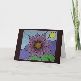 Stained Glass Flower Greeting card