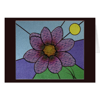 Stained Glass Flower Greetingcard Greeting Cards