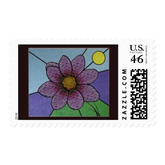 Stained Glass Flower stamp