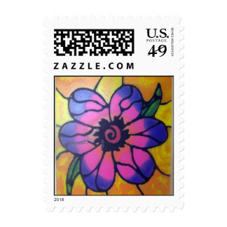Stained Glass Flower Stamps