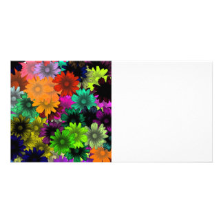 Stained glass flowers card
