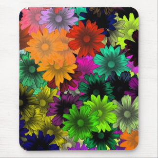 Stained glass flowers mouse pad