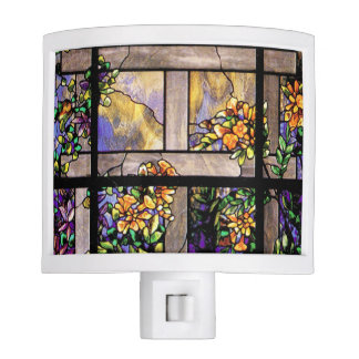 Stained Glass Flowers Night Light