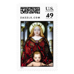 Stained glass from the Vatican Museum in Rome Postage Stamp