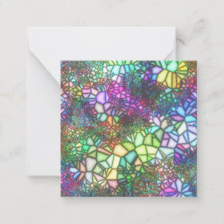 Stained Glass Garden Note Card