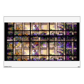 Stained Glass Garden Wall Decal